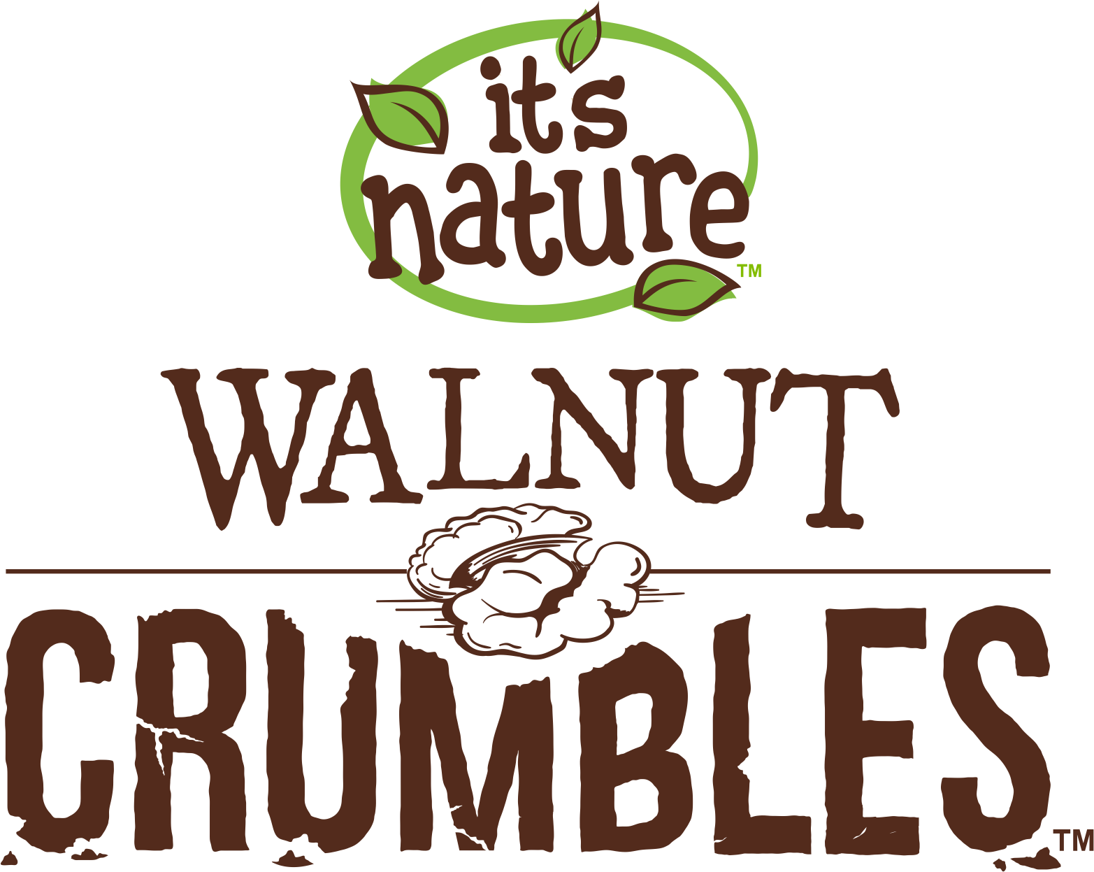 It's Nature Walnut Crumbles Logo