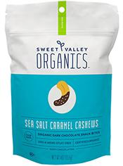 Bag of Sea Salt Caramel Cashews Dark Chocolate