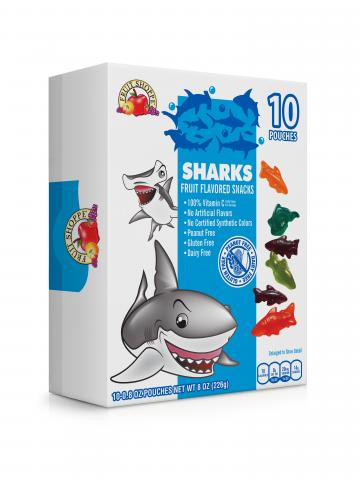 Box of Shark Fruit Snacks
