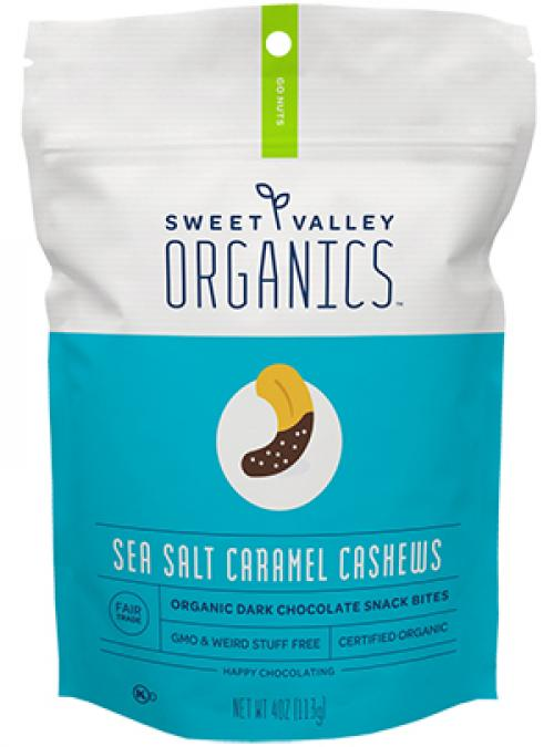 Bag of Chocolate Sea Salt Caramel Cashews